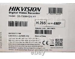 Hikvision Ds-7208hqhi-k1 4mp 8ch Hd-tvi Dvr + 4ch Ip Up To 12ch In Total H. 265+