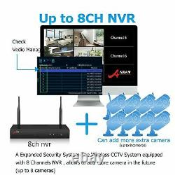 Home Outdoor Wireless Security WIFI Camera System 1080P 8CH 1TB HDD NVR CCTV HD