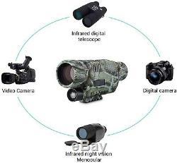 Infrared Night Vision Digital Video Camera hunting hiking outdoors