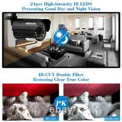 KKmoon 16CH 1080P 5in1 AHD DVR 1500TVL Outdoor CCTV Security Camera System Kit