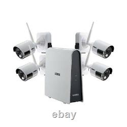 Lorex 4 Camera 1080p Hd Wire-free Security System, 6 Channel Dvr, 16gb Hdd Niob