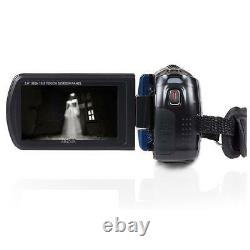 Minolta MN80NV 1080p Full HD 3 Touchscreen Camcorder with Nightvision, Blue