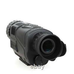 Monocular Night Vision Scope Video DVR Photo 5x40 Zoom Infrared Digital+8GB 5Y