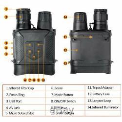 NIGHT VISION Binocular 1300Ft Recording Function Rugged Armor DIGITAL INFRARED