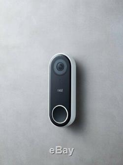 Nest Hello Smart Wi-Fi Video Doorbell HD Security Camera with Night Vision