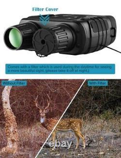 Night Vision Binoculars 300 Yards Digital IR Telescope 4X Zoom Optics with 2.3
