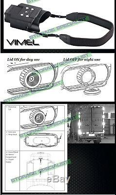 Night Vision Camera Goggles Binoculars Monocular Hunting Digital NV Security 8GB