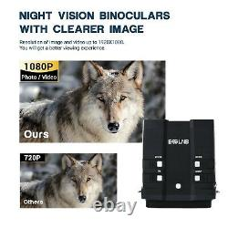 Night Vision Goggles Binoculars 1080P 3.6-10.8X 4 LCD Infrared NVG With 64G Card