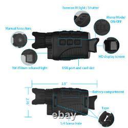 Night Vision HD Digital Infrared Binoculars or Monocular with LCD Screen Video