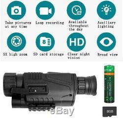 Night Vision INFRARED digital video camera 5x40 Monocular Surveillance / Hunting