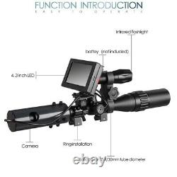 Night Vision Scope Digital Camera Rifle Scope with IR Torch NEW System Infra Led