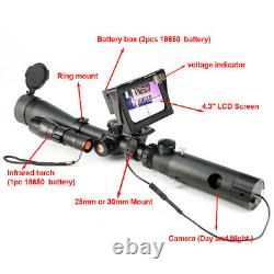 Night Vision Scope Digital Camera for Rifle Scope Hunting Device with LCD Display