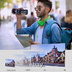 ORDRO AC3 4K WiFi Digital Video Camera Camcorder 24MP 30X Zoom DV Recorder+Mic