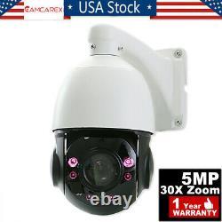 POE PTZ IP Camera 5MP Super HD 2592x1944 Pan/Tilt 30x Zoom Speed Dome Cameras