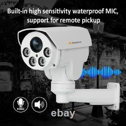 PTZ 5MP POE Audio Security IP Camera Home CCTV Outdoor 4x Zoom IR Night Vision