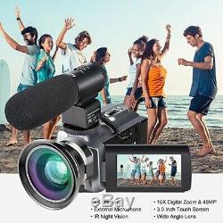 Premium 4K Ultra HD 16x Digital Zoom 48MP Infrared Video Camcorder Camera Kit