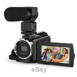 Professional 4K 1080P Ultra HD 48MP 16X ZOOM Digital Video Camera Camcorder IR