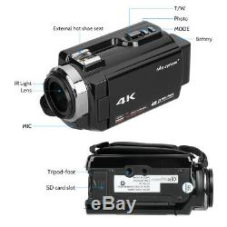Professional Video Camera 4K Ultra HD 48MP Digital Camcorder Wide Angle Lens