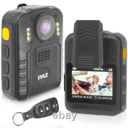 Pyle PPBCM92 Compact Portable 1296p HD Wireless Night Vision Police Body Camera