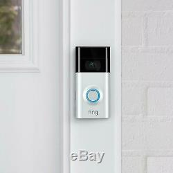Ring Video Doorbell 2 1080P HD Wireless Camera Monitor with Night Vision