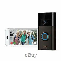 Ring Video Doorbell 720p HD Camera 180 Degree Field of View Venetian Bronze New