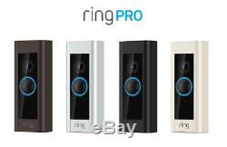 Ring Video Doorbell PRO Wi-Fi 1080p HD Camera Wired Night Vision Smart HD NEW