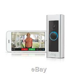Ring Video Doorbell Pro WiFi 1080P HD Camera with Night Vision Satin Nickel