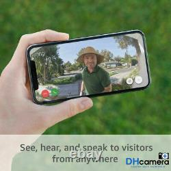 Ring Video Doorbell Pro Works With Alexa, 1080p HD Video, Night Vision, Hardwired