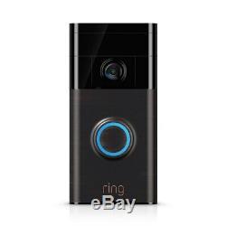 Ring Wireless Video Doorbell Motion Sensor Loud Alarm iOS Android App 2 Way Talk