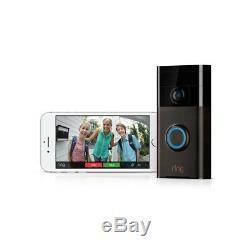 Ring Wireless Video Doorbell Wifi Built-in Speaker 2-Way Talk See and Speak