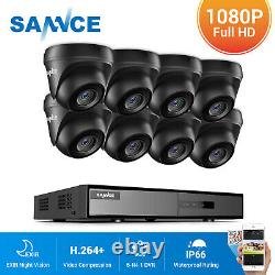 SANNCE 1080P HDMI 8CH 5IN1 DVR 3000TVL IR Outdoor CCTV Security Camera System 1T