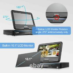 SANNCE 1080P HDMI DVR 3000TVL CCTV Security Camera System with 10.1LCD Monitor