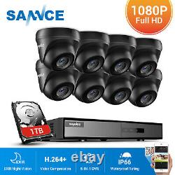 SANNCE Outdoor 3000TVL Dome CCTV Camera 5IN1 8CH 1080P HDMI DVR Security System