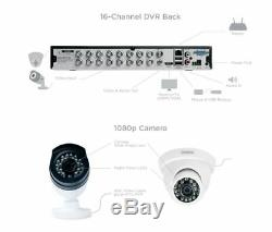 Security Camera System 16 Channel 8 Cam 1080p 3TB HD KIT Night Vision Outdoor US