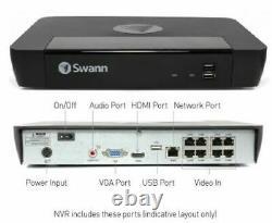 Swann Digital IP NVR 8580 8 Channel Network Video CCTV Recorder 4K Ultra HD 2TB