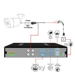 TMEZON 1080P 2.0MP Security Camera 16CH HDMI DVR Outdoor IR Night CCTV System