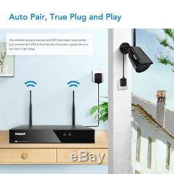 TMEZON 1080P Wireless WiFi Outdoor Camera 8CH HD NVR 1TB Audio Security System