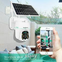 TMEZON WiFi IP PTZ Camera 1080P Solar Power Security Outdoor Wireless CCTV Dome