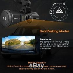 Upgraded Vantrue N2 Front & Back Dual Dash Cam HD HDR Camera 64GB! 1080P Loop