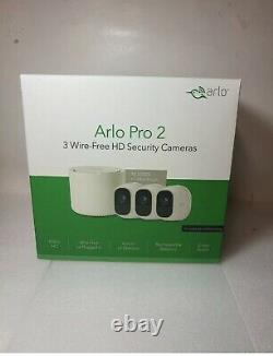 Used Arlo Pro 2 Security Cameras System Bundle Indoor/Outdoor HD 1080p 3 Camera