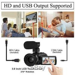 Video Camera 4K Camcorder AiTechny Ultra HD Digital WiFi 48MP 16X Zoom