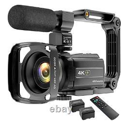 Video Camera Camcorder 4K 48MP YouTube Camera WiFi Digital Camera Vlogging Vlog