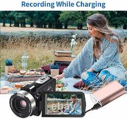 Video Camera Digital Camera 4K Webcam IR Night Vision UHD 56MP 16X Digital Zoom