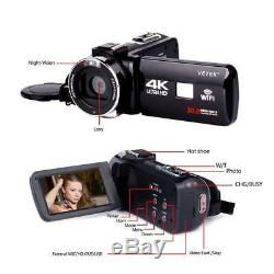 WiFi 4K Ultra HD Night Sight Digital Video Camcorder Camera Home Wedding DV CAM