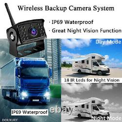Wireless Backup Camera Digital With 7 Monitor System Kit Rear View 50m