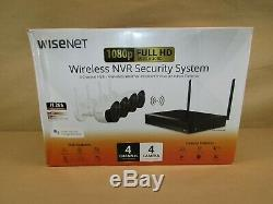 Wisenet 4-Channel Wi-Fi 1080p NVR Surveillance System with1TB HDD, 4-Cameras 1080p