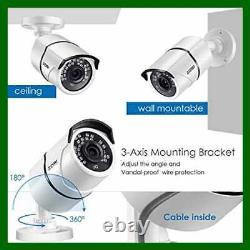 ZOSI 4PACK 1920TVL 1080P HD TVI Security Cameras 120Ft Night Vision CCTV Home Da