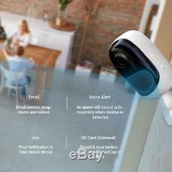 1080p Caméra De Sécurité Extérieure Sans Fil Rechargeable Reolink Argus 2 3pcs