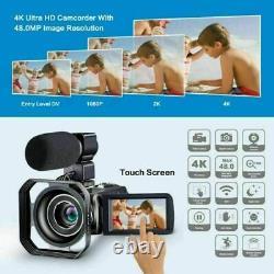 1080p Caméscope Hd 4k Caméra Vidéo Numérique LCD 24mp 16x Zoom DV Av Vision Nocturne