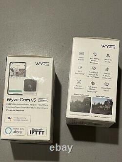 2 X Wyze Cam V3 New In Box Wifi Camera Cloud Recording Color Night Vision